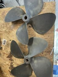 Michigan Wheel Pair Of 4 Blade 17x15 Nibral Propellers For Twin Inboard Engines