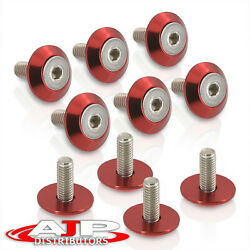 10pc Bumper Fender Washers Vip Exterior Dress Up Billet Anodized Red Kit For Gmc