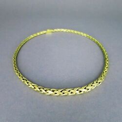 Wonderful Braided Vintage Ladies Collier Made Of Solid Gold - Braided Chain