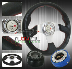 89-05 Eclipse 320mm Steering Wheel Kit - Thin Fast Quick Release + Hub Adapter