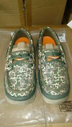 Menand039s Soft Science Fin 2.0 Fishing Boat Shoes Camo Shoes Sz. 11