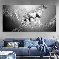Modern Black White Love Abstract Canvas Print Wall Art Picture Home Decor US