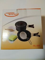 Camping Cookware Mess Kit Backpacking Gear amp; Hiking $19.99