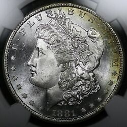 1881-s 1 Morgan Silver Dollar Ngc Ms67+ Plus Grade Rate Old Type Coin Money
