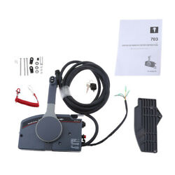 Pull Throttle Outboard Remote Control Box For Yamaha Side Mount 10 Pin Cable