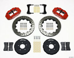 Wilwood Fit Narrow Superlite 6r Front Hat Kit 12.88in Drill Red Honda S2000