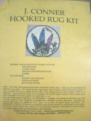 J Conner Hooked Rug Kit 12 Round Chair Pad Lupines 2008 Design Maine Usa Euc