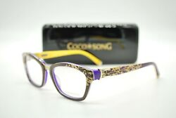 New Coco Song Cv 101 Cold Tremor Col. 3 Authentic Eyeglasses Frames Rx 50-18