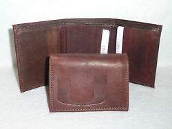 Miami Hurricanes  Leather Trifold Wallet   New   Dkb Z+