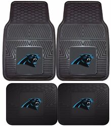 Carolina Panthers Heavy Duty Floor Mats 2 And 4 Pc Sets For Car Trucks And Suv's