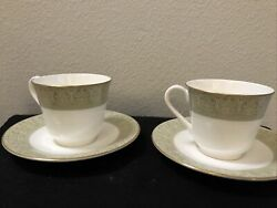 Set Of 2 Royal Doulton Sonnet H5012 Bone China Cup And Saucer - Made In England