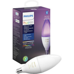 Philips Hue White And Color Ambiance Led E12 Candle Smart Light Bulb