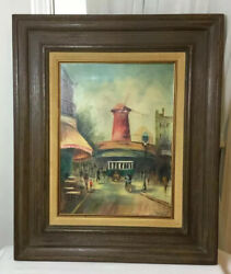 """Antique Original Oil Painting On Canvas Framed Wall Art Signed Randolph 24""""x20"""""""