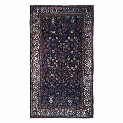 7and0392x13and0391 Antique Farsian Baktiarjoon Longer Shape Hand Knotted Wool Rug R66809