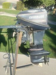 9.9 Evinrude Outboard Electric Start 1990 Runs Great Video Of Unit Running