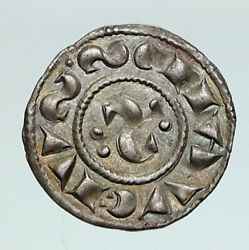 12th Century Medieval Italy Siena City Republic Antique Old Silver Coin I91243