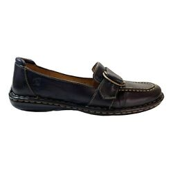 Born Womens Shoes Black Leather Mne5 Monk Strap Loafer Size 8.5 M