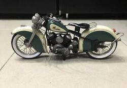 Antique Iron 1947 Indian Chief Model Handmade Toy Motorcycle Big Boy Build Rare