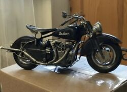 Antique Iron 1943 Indian Chief Model Handmade Toy Motorcycle Rare