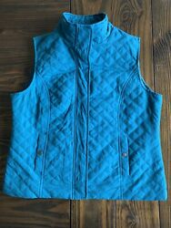 Christopher And Banks Sleeveless Vest Turquoise Green Large