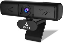 2k 4mp Zoomable Webcam With Privacy Cover And Dual Microphone 3x Digital Zoom