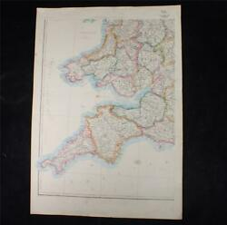 Wales - The Dispatch Atlas Edward Weller - 7 Sheets In Total Antique 19thc Maps
