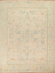 Vegetable Dye Oushak Turkish Area Rug Hand-knotted Wool Living Room 8x10 Carpet