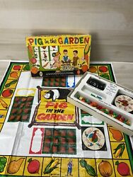 Pig In The Garden Vintage Game By Schaper Complete All Pieces Minus 1 Figure