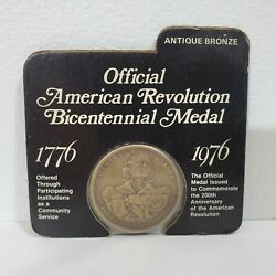 State Of New Hampshire American Revolution Bicentennial Medal Antique Bronze