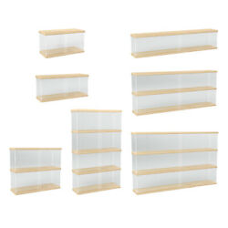 Clear Acrylic Display Case Countertop Box Organizer Stand Toys Collectibles