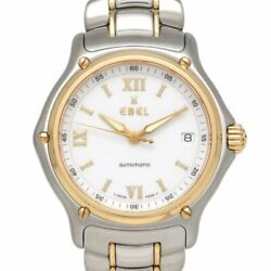 Ebel 1911 1080241 Automatic White Dial Date Yellow Gold Stainless Men's