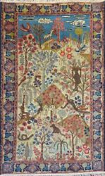 Stunning C 1900 Antique Hand Knotted Exquisite Rug 2' 9 X 4' 5 6211