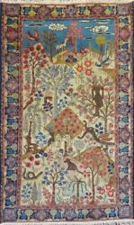 Stunning C 1900 Antique Hand Knotted Exquisite Rug 2and039 9 X 4and039 5 6211