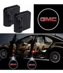 2x Wireless Led 3d Car Door Logo Projector Courtesy Ghost Puddle Light Fits Gmc