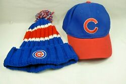 Chicago Cubs Old Style Light Baseball Hat And Pepsi Cubs Knit Striped Winter Hat