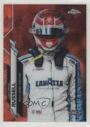 2020 Chrome Sapphire Formula 1 F1 Racers Red Refractor /5 George Russell Rookie