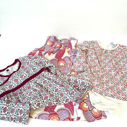 Tea Collection Lot Of 3 Girls Dresses Sizes 18-24 Months To 3t