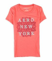 Aeropostale Womens Stacked New York Graphic T-shirt Pink X-small
