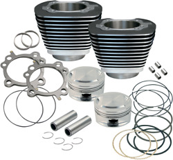 S And S Cycle Big Bore Kits 95in. Black Powder-coated 910-0204