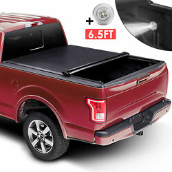 6.5' Bed Roll Up Tonneau Cover For 2002-2020 Ram 1500 / 2500 / 3500 Truck On Top