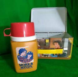Mork And Mindy Tv Show Vintage Lunch Boxw/ Thermos 1979 Robin Williams Lunchbox