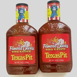 Famous Dave's Bbq Sauce Texas Pit 2pack Of 19oz Bottles