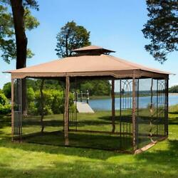 Keep Mosquitoes Out Of Your 10 X 12 Gazebo - 4 Panel Pack Of Mosquito Netting
