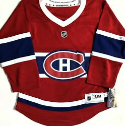 Nwt-youth S/m Montreal Canadiens Nhl Licensed Premier Jersey French Version