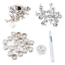 152pcs Boat Canvas Fabric Snap Cover 3/8 Screw Button Socket Fastener Kit