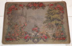 Michal Negrin Pvc Fantasy Carpet Rug New Antique Victorian Style Roses Pattern