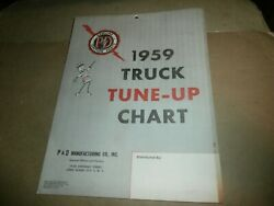 Vintage P And D Ignition Parts 1959 Truck Tune Up Chart Mack Ford Ih Autocar Ect