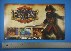 Sid Mieier's Pirates Coming Soon Store Display Sign 2006 Sony Psp Promo