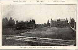 Columbian College New Westminster Bc Ladies College Science Hall Postcard E78