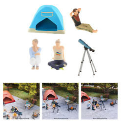 164 Miniature Resin Figure Outdoor Barbecue Bbq Scenes Building Kits Toys